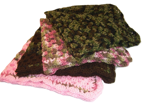 "Camouflage Blanket Size 30"" x 30"""