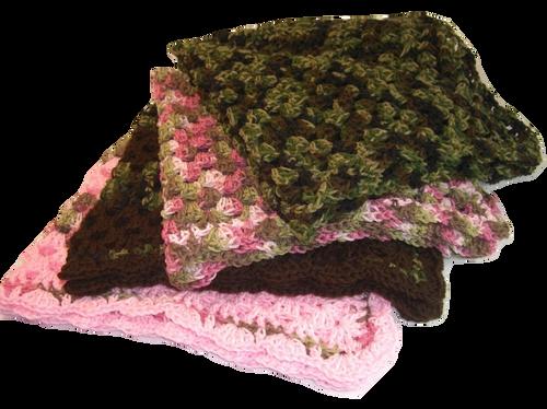 "Camouflage Blanket Size 30"" x 30"""