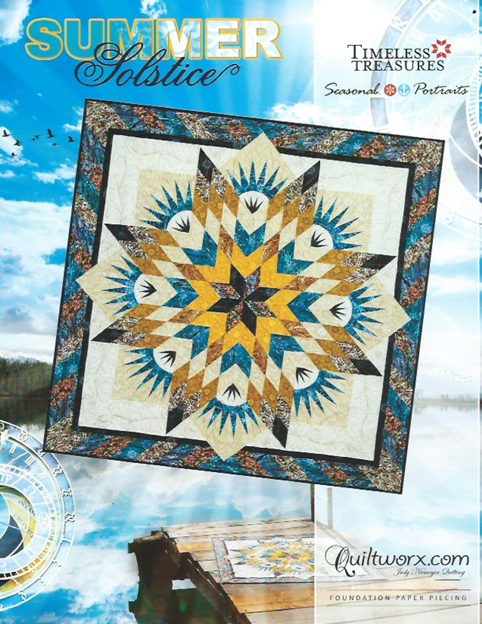 Foundation Paper Piecing Quilt Pattern ~ SEA URCHINS ~ by Judy Niemeyer