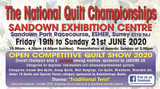 NATIONAL QUILT CHAMPIONSHIP SANDOWN 2020 19 TO 21 JUN