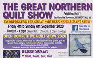 GREAT NORTHERN NEEDLECRAFT SHOW HARROGATE 4TH TO 6TH SEP 2020