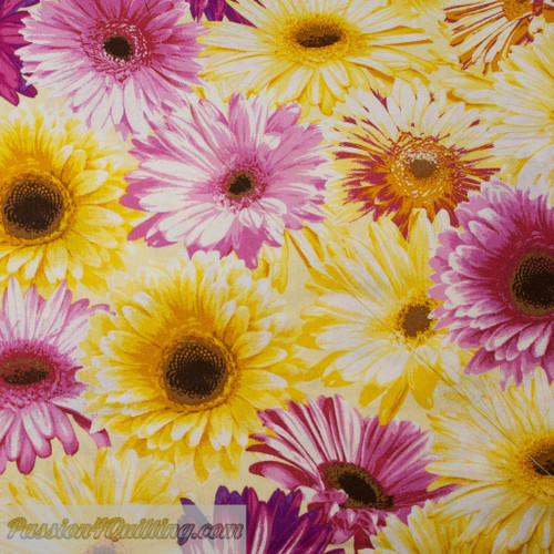 Garden party in yellow and purple per 25cm