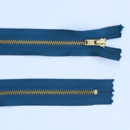Green Blue Metal zip 25cm