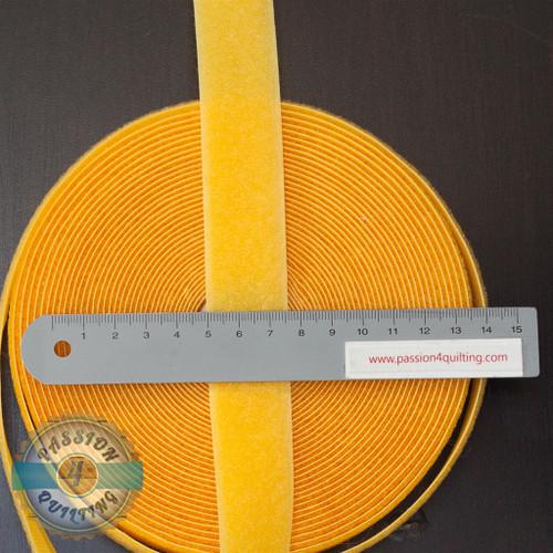 Velcro Fastener in Yellow 25cm