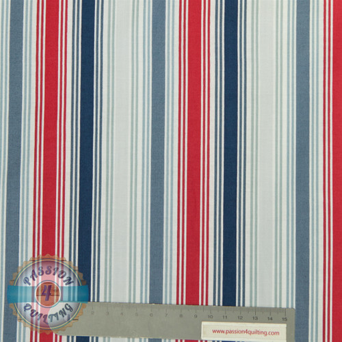 Marinas stripe blue per 25cm
