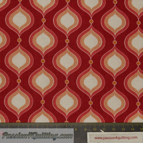 Flutter 3133 Red. fat quarter