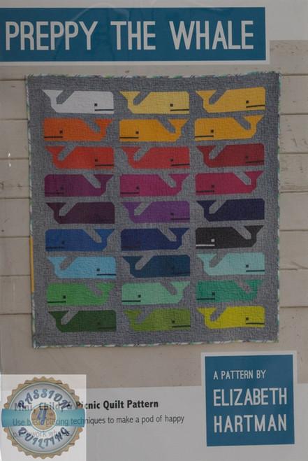 Peppy the Whale Quilt Pattern by Elizabeth Hartman.