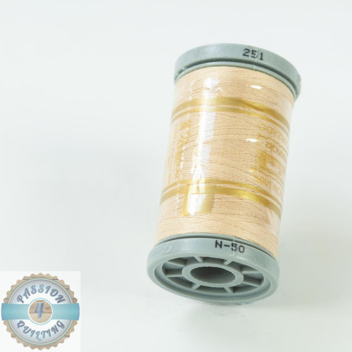 Presencia Cotton Quilting Thread 50wt 500m Colour 251 Cream Flesh