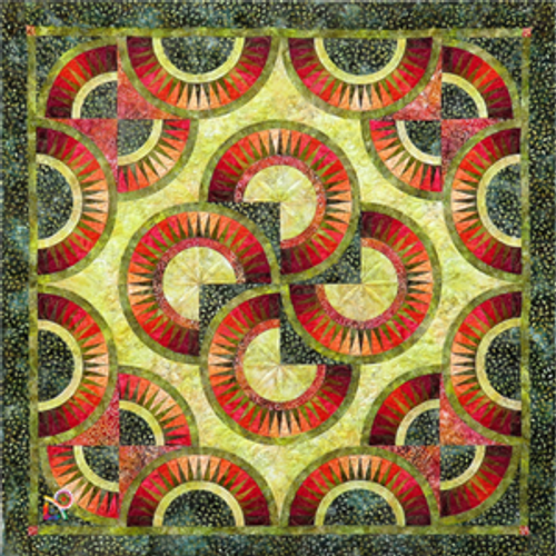 When Summer ends quilt pattern by Jacqueline de Jonge