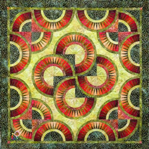 When Summer ends quilt pattern by Jacqueline de Jonge