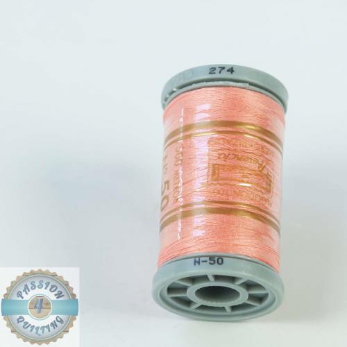 Presencia Cotton Quilting Thread 50wt 500m Colour 274 Pink