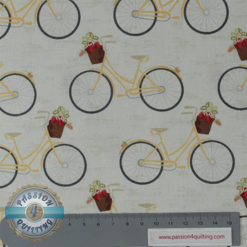 Vintage Berries  16102 bicycles white per 25 cm