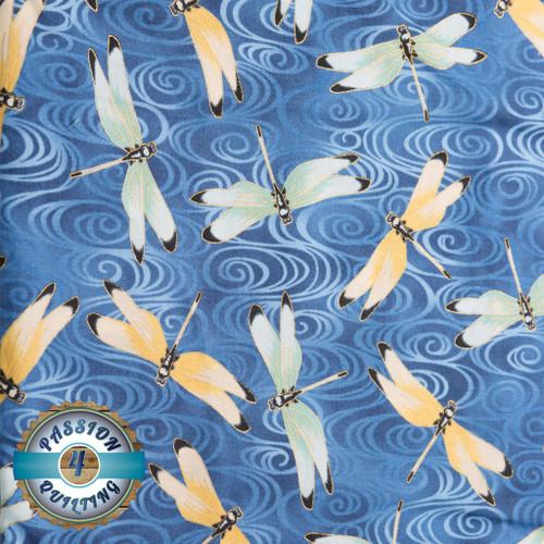 Lotus in Springtime blue per 25cm