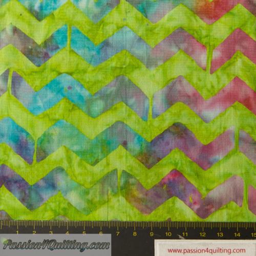 Batik  green  per 25cm