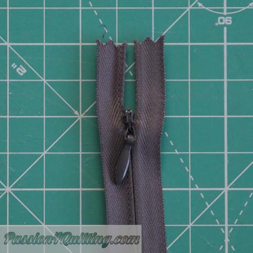 Dark Grey invisible zipper 30cm