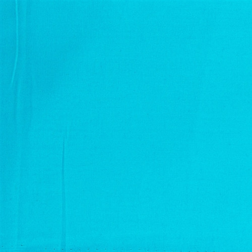 Angel-fish turquoise blue plain fabric per 25cm