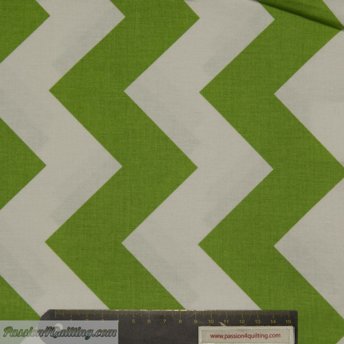 Chevron Large green 330-30. Fat quarter
