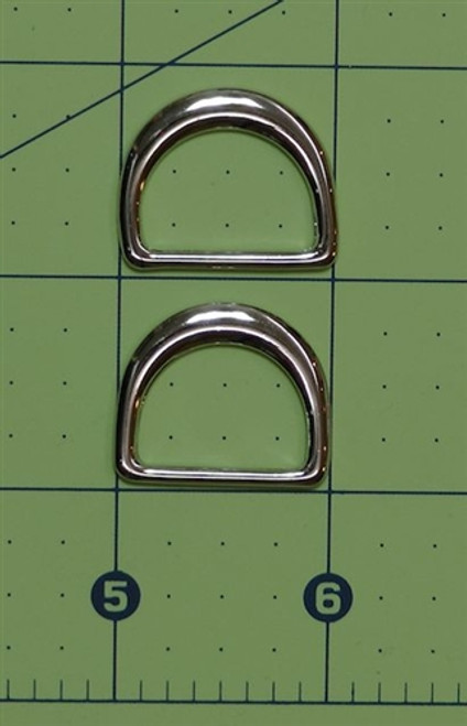 Silver D ring 25mm PAIR