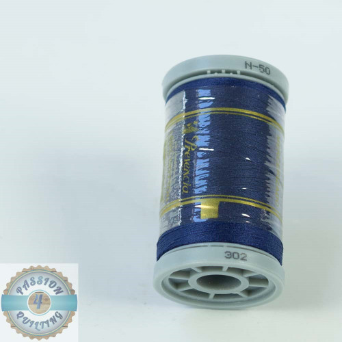 Presencia Cotton Quilting Thread 50wt 500m Colour 302 Dark Blue