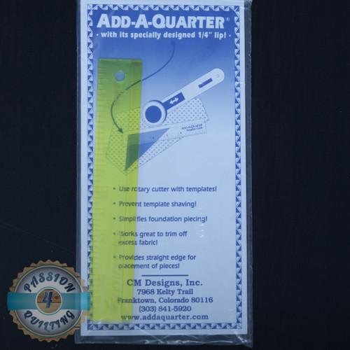 """Add a quarter 6"""" ruler"""