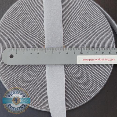 Velcro  Fastener Grey per 25cm