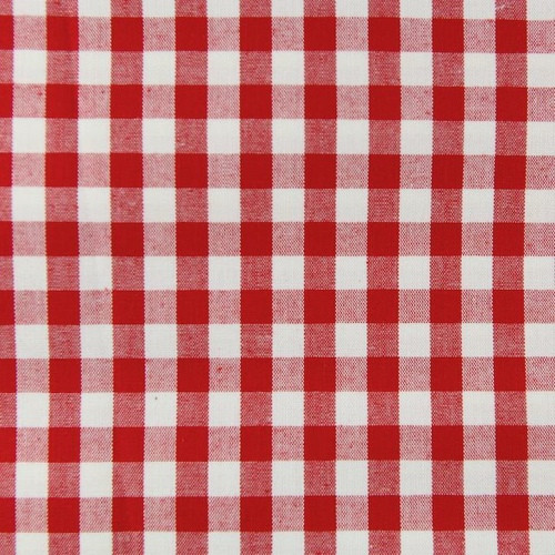 Red Gingham Per 25cm