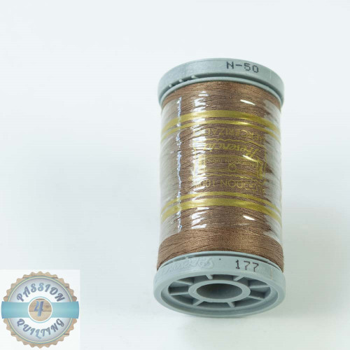 Presencia Cotton Quilting Thread 50wt 500m Colour 177 Brown