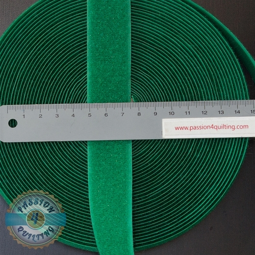 Velcro  Fastener Green per 25cm