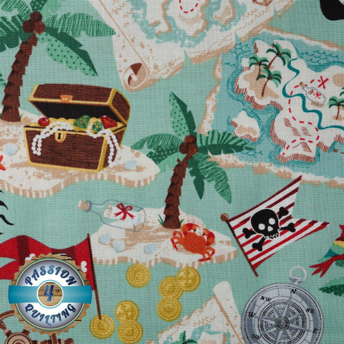 Pirate map per 25cm