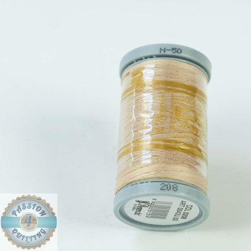 Presencia Cotton Quilting Thread 50wt 500m Colour 208 Dark Cream