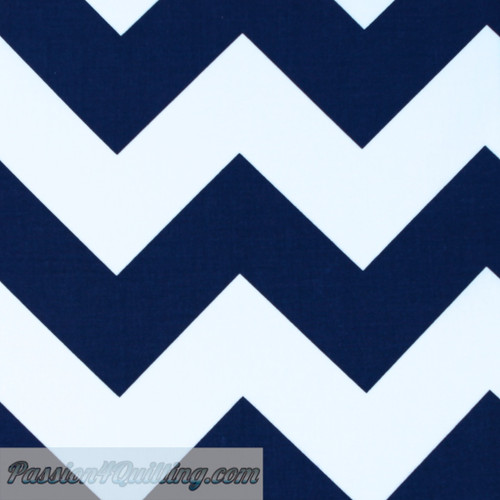 Chevron Large Navy 330-21 Fat quarter