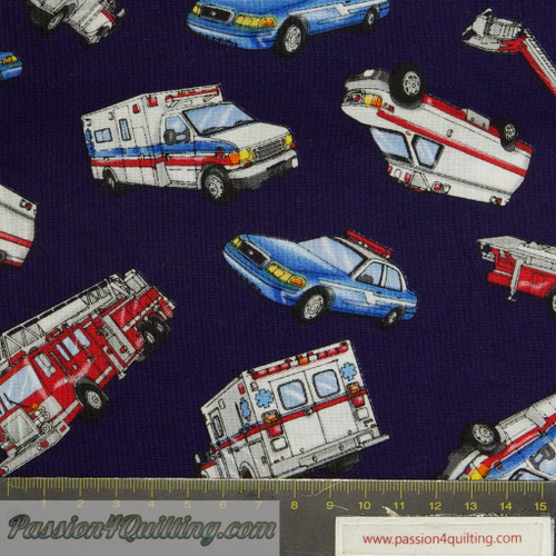 Emergency vehicles. Per 25cm