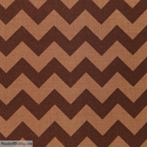 Chevron small brown 400-91 Fat quarter