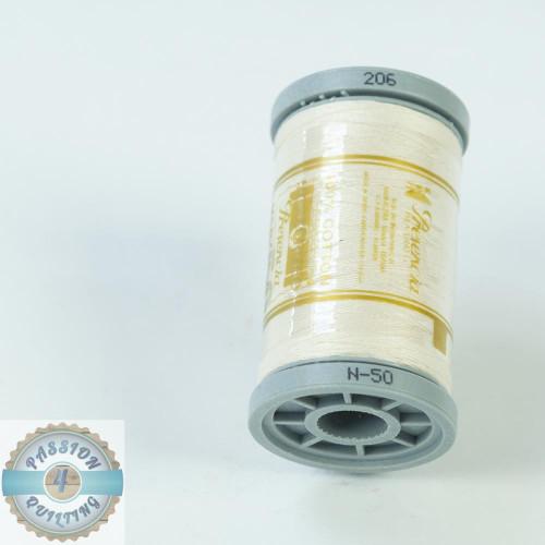 Presencia Cotton Quilting Thread 50wt 500m Colour 206 Cream