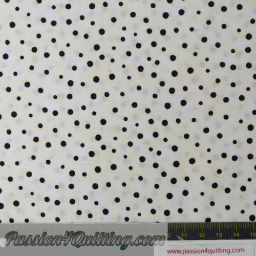Polka Dot Garden  white spot per 25cm