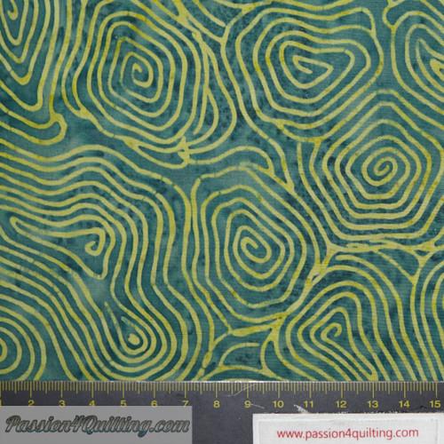 Island Batik green line design per 25m