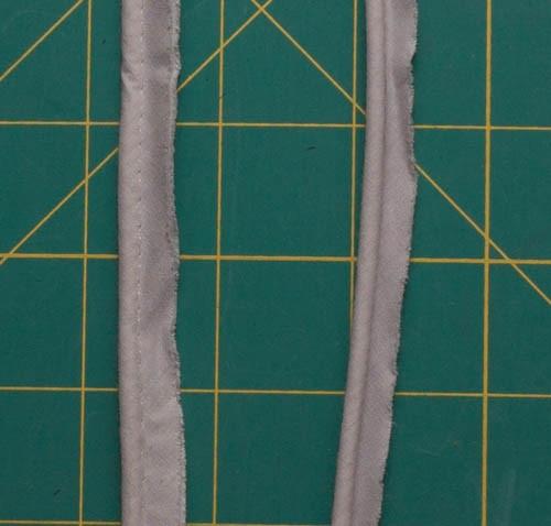 Piping   grey per metre