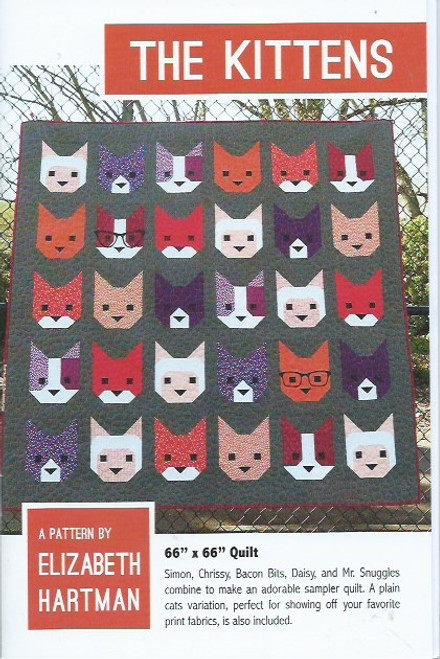 The Kittens Quilt Pattern by Elizabeth Hartman.