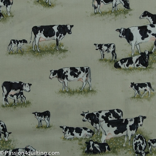 Farm Animal  cream cows 1489.per 25cm