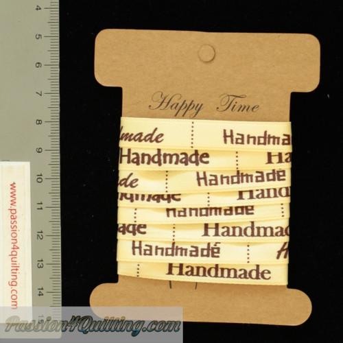 Ribbon handmade labels per metre