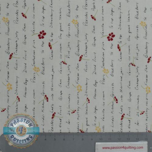 Vintage Berries  16110   white per 25 cm