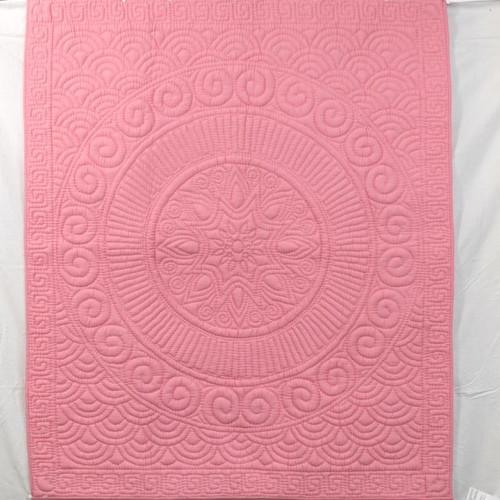 Pink circle baby qult