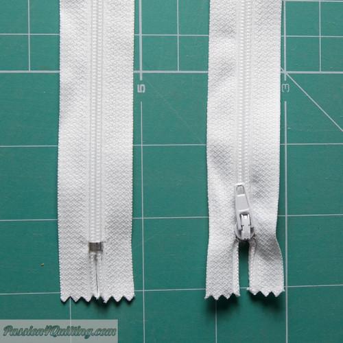 Zipper Conventional 30cm  White