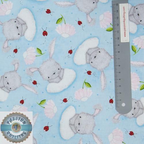 Fluffy Bunny in blue per 25cm