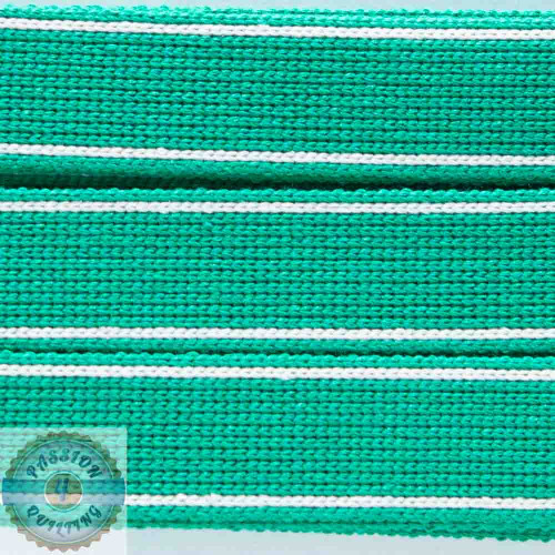 Lincoln green Cotton Blend Webbing. Per metre