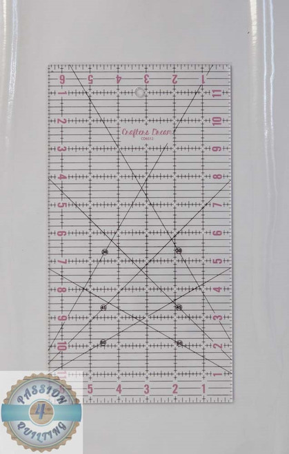 "Crafters Dream 6.5"" x 12"" long ruler"
