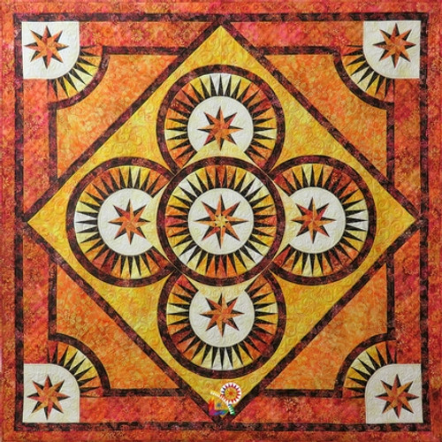 Fire Dance quilt pattern by Jacqueline de Jonge