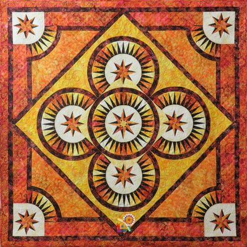 Fire Dance quilt pattern by Jacqueline de Jonge