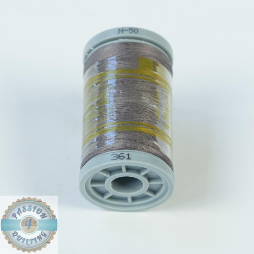 Presencia Cotton Quilting Thread 50wt 500m Colour 361 Dark Stone
