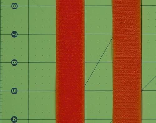 Velcro  Fastener Orange per 25cm